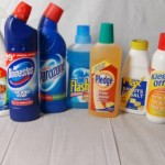 Household cleaners packaging