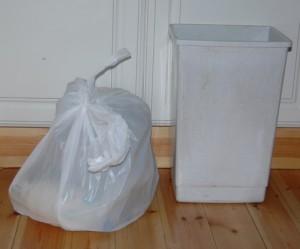 weekly rubbish one week on
