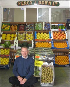 Tim Brown - ordered to throw away 520 kiwi fruit