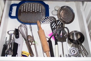 a decluttered zero waste drawer