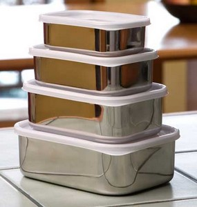 stainless steel reusable food containers