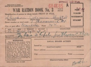 page from a war ration book