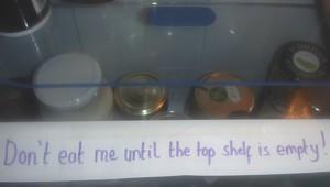 bottom shelf items
