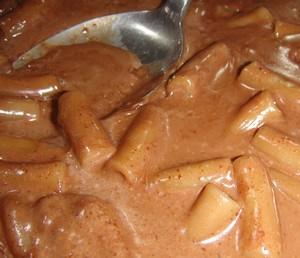 chocolate macaroni pudding