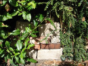 bricks and stones at Chez Green