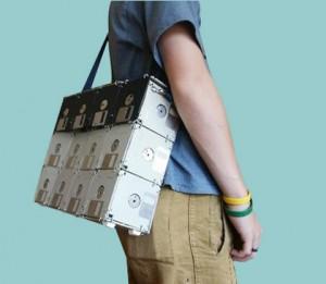 recycled floppy disk bag