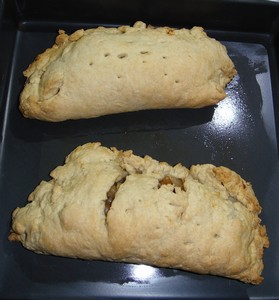 Yum - bacon turnovers with almost fat-free pastry!