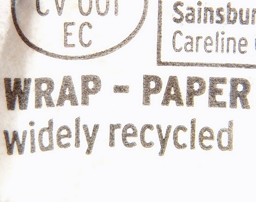 Sainsbury butter wrapped in paper - widely recycled