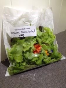 bag of salad leaves