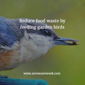 reduce food waste by feeding garden birds