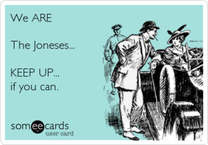 keeping up with the joneses with recycling